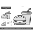 Fast food takeaway line icon vector image vector image