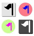flag flat icon vector image