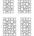 four vignette puzzles vector image vector image