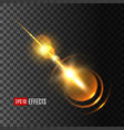 glowing light effect with rays and lens flare vector image vector image
