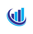 graph finance logo vector image vector image