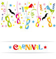Happy carnival card vector image