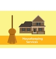 house keeping services concept poster vector image vector image
