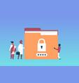 indian businessman with hacker padlock password vector image vector image