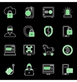 Internet Security Icon Set vector image vector image