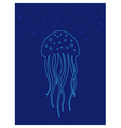 Jellyfish under water Marine life vector image vector image