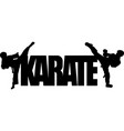 karate text symbol vector image