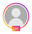 live profile interface vector image
