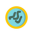 Lot of bacteria icon flat style