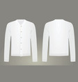 men white cardigan vector image vector image