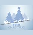 merry christmas santa claus in a sleigh vector image vector image