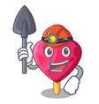 miner heart shaped ice cream the cartoon vector image vector image