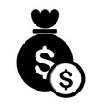 money bag icon image vector image