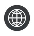 Monochrome round globe icon vector image vector image