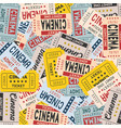 movie ticket in vintage style vector image vector image