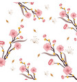 nature rustic flowers with branches leaves vector image vector image