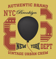 ny t-shirt ballon vector image