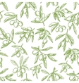 Olive fruit sketches seamless pattern background vector image vector image