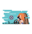 person driving with wear your seat belt label vector image vector image