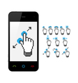 Phone with touch screen gestures vector image