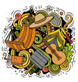 picnic cartoon doodle funny design vector image vector image