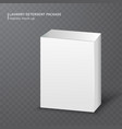 realistic white carton box on transparent vector image vector image