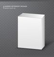 realistic white carton box on transparent vector image