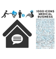Realty Message Icon with 1000 Medical Business vector image vector image