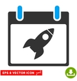 Rocket Calendar Day Eps Icon vector image vector image