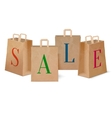 Sale paper shopping bags vector image vector image