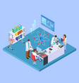 scientific research laboratory isometric vector image vector image
