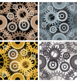 Seamles gear pattern vector image vector image
