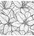 seamless pattern beautiful monochrome black and vector image vector image