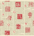seamless pattern on theme old book pages vector image