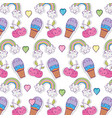 set of kawaii characters pattern vector image