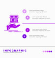 shop donate shopping online hand infographics vector image