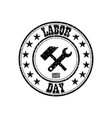 sign labor day on white background vector image vector image