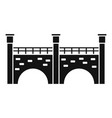 stone bridge icon simple style vector image vector image