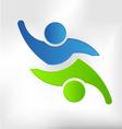 Teaming Two Logo design vector image