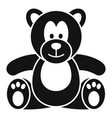 teddy bear icon simple style vector image vector image