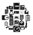 text icons set simple style vector image vector image