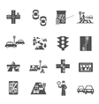 Traffic Icons Set vector image