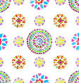 watercolor retro pattern geometric shapes vector image vector image