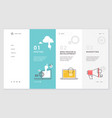 website template design vector image