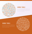 work tools concept in circle vector image vector image