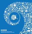 Yarn ball icon sign Nice set of beautiful icons vector image vector image