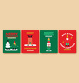 year funny winter people card set vector image