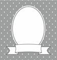 Photo frame white polka dots on grey background vector image
