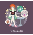 Tattoo Parlor Flat Style Design vector image