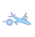 airplane flight plane star transport travel icon vector image